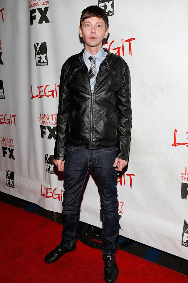 "DJ Qualls attends the screening of FX's new comedy series ""Legit"" on January 14, 2013 in Los Angeles, California."