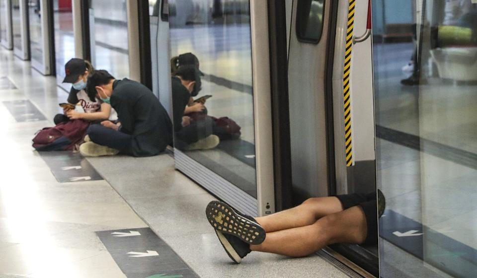 Nearly half of pro-democracy voters said they supported non-violent protest acts such as blocking MTR trains. Photo: Edmond So
