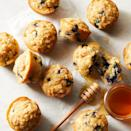 """<p>Blueberries and lemon are a natural pairing in these light and airy muffins with a delicate brown sugar crumble. If you like an extra blast of lemon flavor, use lemon extract rather than vanilla. These muffins are best with fresh blueberries, but you can substitute with frozen. Don't thaw them before you stir them into the batter. <a href=""""http://www.eatingwell.com/recipe/266221/blueberry-lemon-crumb-muffins/"""" rel=""""nofollow noopener"""" target=""""_blank"""" data-ylk=""""slk:View recipe"""" class=""""link rapid-noclick-resp""""> View recipe </a></p>"""