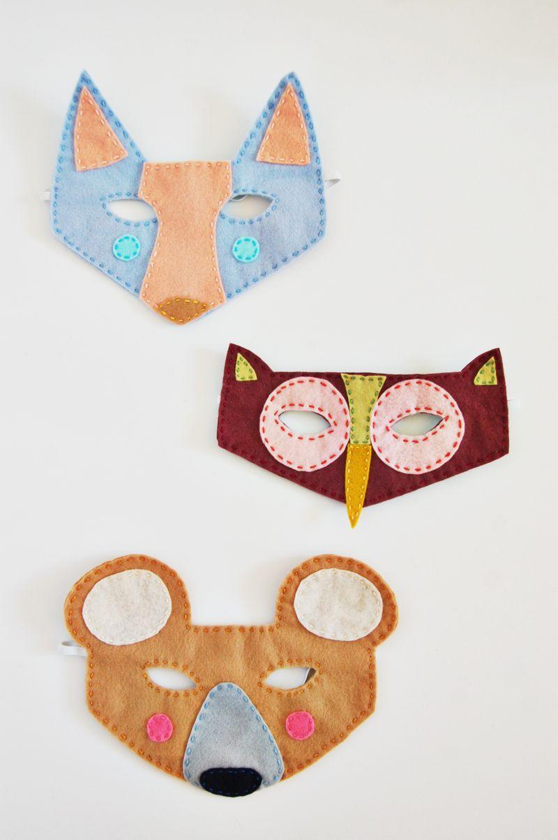 """<p>Foxes and owls and bears, oh my! Channel an outdoorsy theme this Halloween and outfit your own little creatures in any one of these whimsical masks. </p><p><strong>Get the tutorial at <a href=""""https://abeautifulmess.com/2014/10/woodland-creatures-felt-masks.html"""" rel=""""nofollow noopener"""" target=""""_blank"""" data-ylk=""""slk:A Beautiful Mess"""" class=""""link rapid-noclick-resp"""">A Beautiful Mess</a>. </strong> </p><p><a class=""""link rapid-noclick-resp"""" href=""""https://www.amazon.com/Shappy-Pieces-Dressmaker-Jewelry-Stainless/dp/B07CG5V663/?tag=syn-yahoo-20&ascsubtag=%5Bartid%7C10050.g.3480%5Bsrc%7Cyahoo-us"""" rel=""""nofollow noopener"""" target=""""_blank"""" data-ylk=""""slk:SHOP STRAIGHT PINS"""">SHOP STRAIGHT PINS</a></p>"""