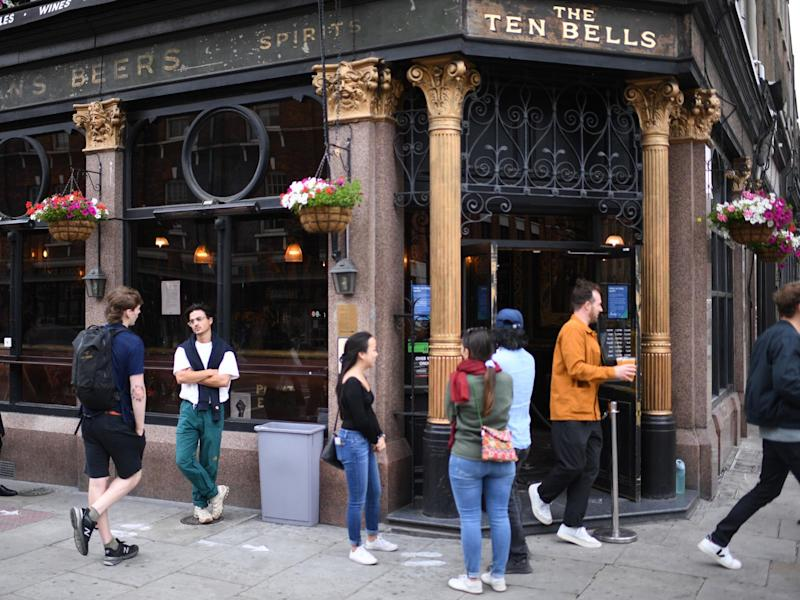 Boris Johnson said it was 'vital that people have to behave responsibly' ahead of pubs and restaurants and hairdressers re-opening: AFP via Getty Images