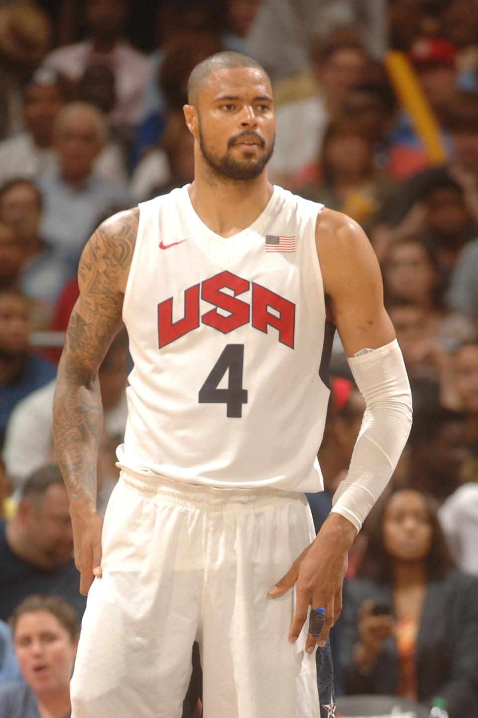 NBA defensive player of the year, Tyson Chandler, has been known to wow crowds with his talent on the basketball court. He also has proved that he knows how to steal the show with his perfectly chiseled body and unique sleeve of tattoos. (Photo by Mitchell Layton/Getty Images)