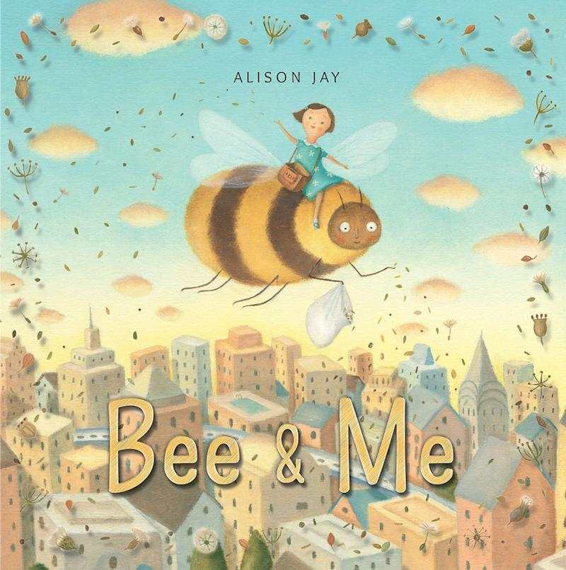 "Young readers learn about the importance of bees in our ecosystem in ""Bee &amp; Me.""&nbsp;<i>(Available <a href=""https://www.amazon.com/Bee-Me-Alison-Jay-author/dp/1910646199"" target=""_blank"" rel=""noopener noreferrer"">here</a>)</i>"