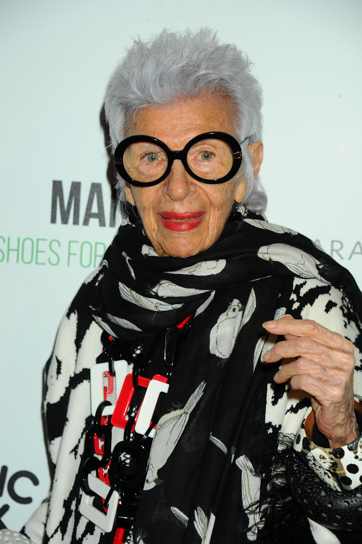 Iris Apfel attends the Manolo: The Boy Who Made Shoes for Lizards New York Premiere, held at The Frick Collection in New York, NY on September 14, 2017. (Photo by Elise Leclerc)