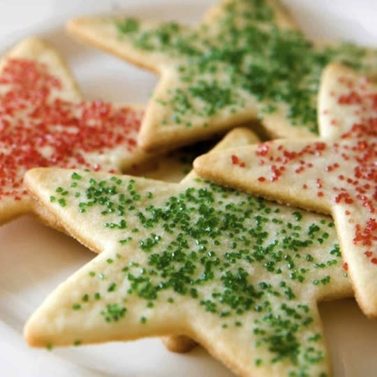 """<div class=""""caption-credit""""> Photo by: Julie Van Rosendaal</div><div class=""""caption-title""""></div><b>Low-Fat Rolled Sugar Cookies</b> <br> This time of year it is always nice to have a (slightly) healthier treat on hand. Everyone needs a classic rolled sugar cookie recipe in their repertoire, especially during the holidays. This is a great basic dough to start with, and it contains about half the fat of a traditional sugar cookie recipe. <br> <a href=""""http://www.babble.com/best-recipes/15-deliciously-unique-ways-to-make-sugar-cookies/#low-fat-rolled-sugar-cookies"""" target=""""""""><i>Get the recipe</i></a><i><br></i>"""