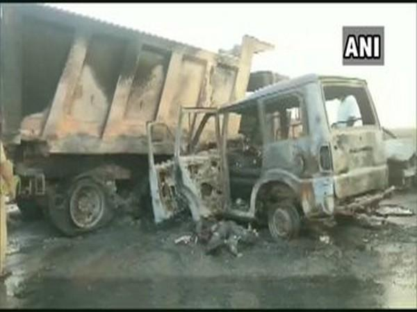 A visual from the accident in Andhra Pradesh on Monday.