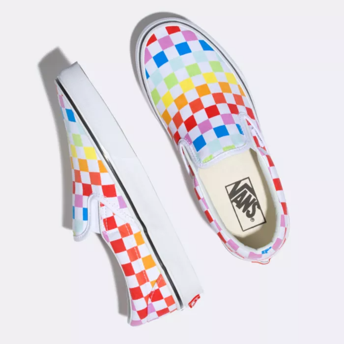 "<a href=""https://www.vans.com/shop/pride"" rel=""nofollow noopener"" target=""_blank"" data-ylk=""slk:Vans"" class=""link rapid-noclick-resp""><h2>Vans</h2></a> <br>Vans is donating $50,000 to the <a href=""https://gsanetwork.org/"" rel=""nofollow noopener"" target=""_blank"" data-ylk=""slk:GSA Network"" class=""link rapid-noclick-resp"">GSA Network</a>, a Black and Indigenous-led organization that unites trans and queer youth for racial and gender justice. In addition, the popular sneaker brand also launched a collection of shoes, apparel, and accessories.<br><br><br><strong>Vans</strong> Checkerboard Slip On Rainbow, $, available at <a href=""https://go.skimresources.com/?id=30283X879131&url=https%3A%2F%2Fwww.vans.com%2Fshop%2Fpride%2Fcheckerboard-slip-on-rainbow-true-white%23hero%3D1"" rel=""nofollow noopener"" target=""_blank"" data-ylk=""slk:Vans"" class=""link rapid-noclick-resp"">Vans</a><br><br>"