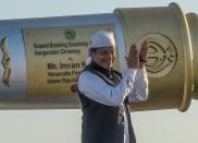 Pakistan has 140-150 nuclear warheads, according to a 2018 report by the Stockholm International Peace Research Institute (SIPRI). Pakistan is working on sea-launched cruise missiles to complete its own triad. <em>Picture: Pakistan</em> <em>Prime Minister Imran Khan (Getty)</em>