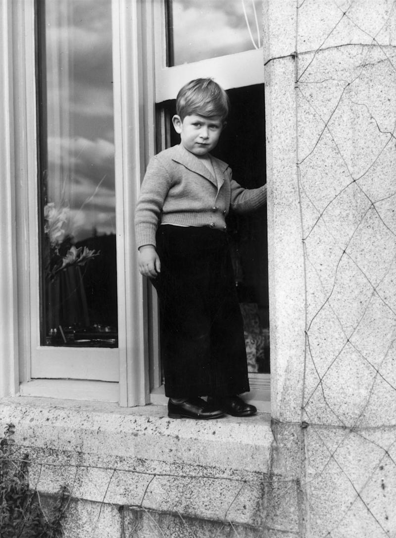 Prince Charles, aged five, explores Balmoral Castle in 1953 (Getty Images)