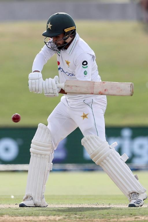 Pakistan's Faheem Ashraf on his way to a career best 91 against New Zealand