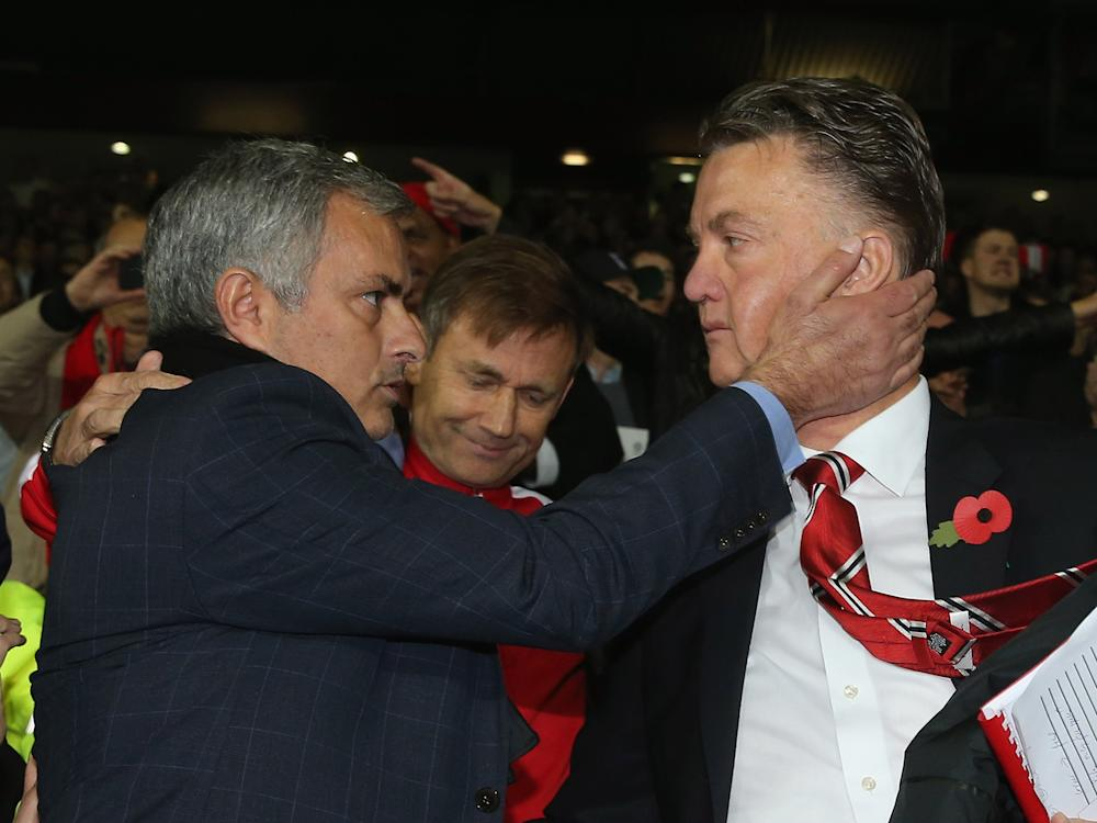 Jose Mourinho considers Louis van Gaal to be a friend and one-time mentor: Getty