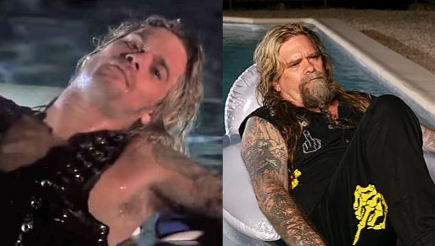 Chris Holmes, then and now (photos: YouTube)