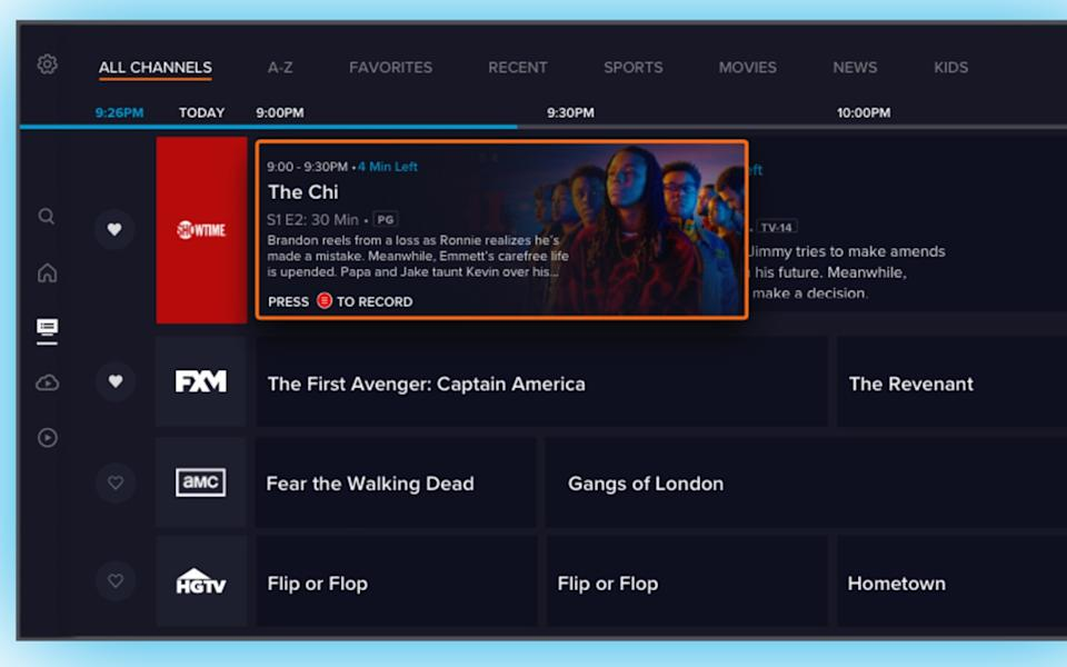 Sling TV's new Channels interface