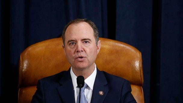 PHOTO: House Intelligence Committee chair, Adam Schiff speaks during the House Intelligence Committee hearing as part of the impeachment inquiry into President Donald Trump on Capitol Hill in Washington, Nov. 21, 2019. (Andrew Harrer/Pool/AFP via Getty Images)
