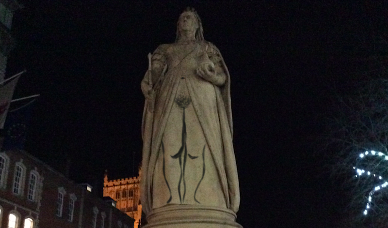 Meet the Feminist Street Artist Who Gave a Queen Victoria Statue a Makeover