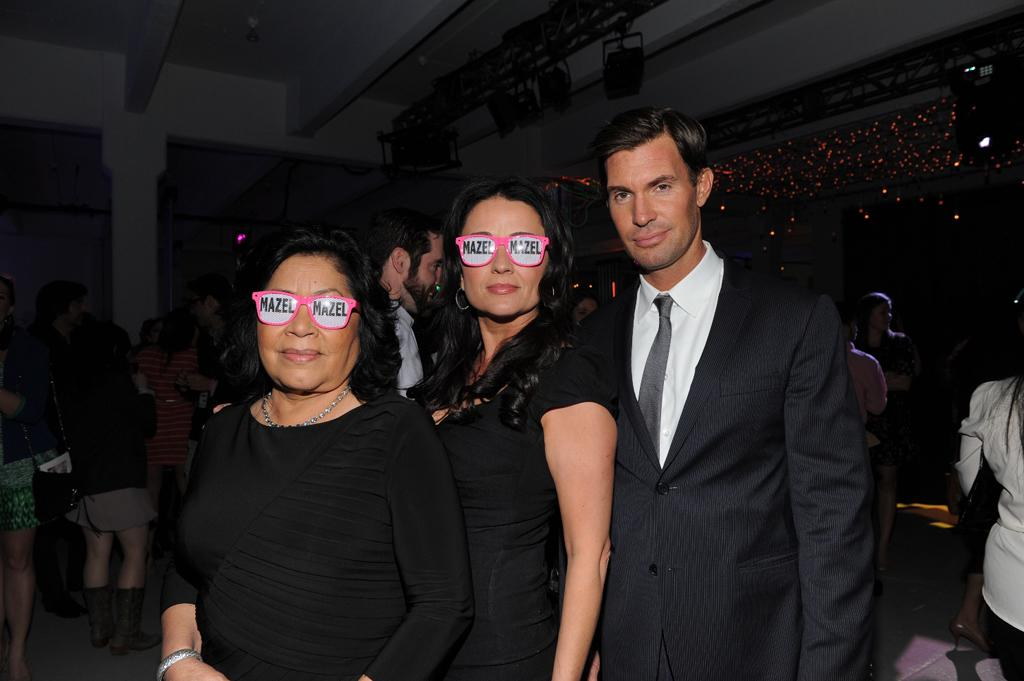 "Zoila Chavez, Jenni Pulos, and Jeff Lewis of ""Flipping Out"" attend Bravo's 2012 Upfront Event at Center 548 on April 4, 2012 in New York City."