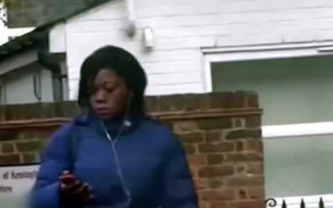 Department of Work and Pensions agents carried out surveillance on Tania Amisi after she tried to cash phoney cheques - Credit: BBC/Britain on the Fiddle