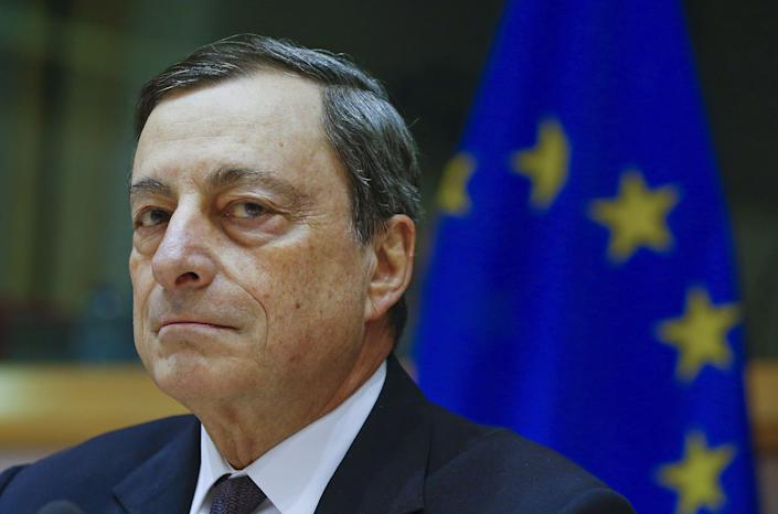 European Central Bank (ECB) President Mario Draghi testifies before the European Parliament's Economic and Monetary Affairs Committee in Brussels, Belgium, February 15, 2016.  REUTERS/Yves Herman       TPX IMAGES OF THE DAY      (Photo: Yves Herman / Reuters)