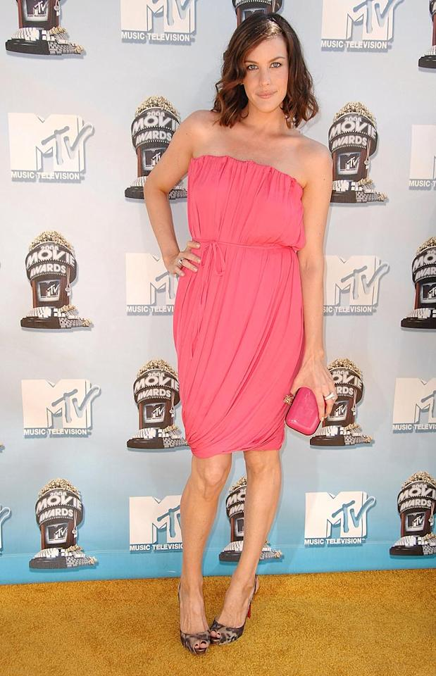 """BEST - <a href=""""http://movies.yahoo.com/movie/contributor/1800019265"""">Liv Tyler</a> looked luminous in a perfectly pink strapless dress."""