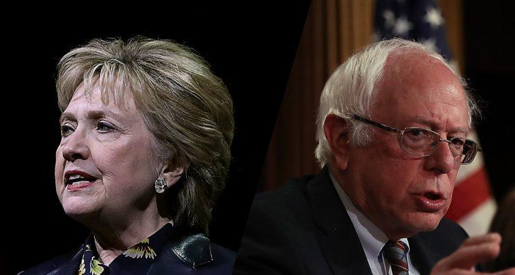 Former Secretary of State Hillary Clinton and Sen. Bernie Sanders. (Photos: Justin Sullivan/Getty Images)