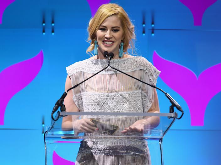 "Kelsey Darragh presents on stage at the The 9th Annual Shorty Awards on April 23, 2017 in New York City. <p class=""copyright"">Dave Kotinsky/Getty Images for Shorty Awards</p>"