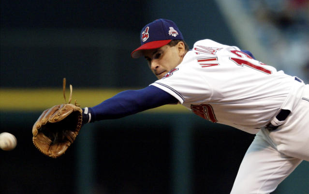 Indians infielder Omar Vizquel should be a controversial Hall of Fame candidate. (AP Photo)