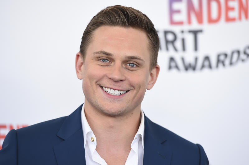Billy Magnussen arrives at the 33rd Film Independent Spirit Awards on Saturday, March 3, 2018, in Santa Monica, Calif. (Photo by Jordan Strauss/Invision/AP)