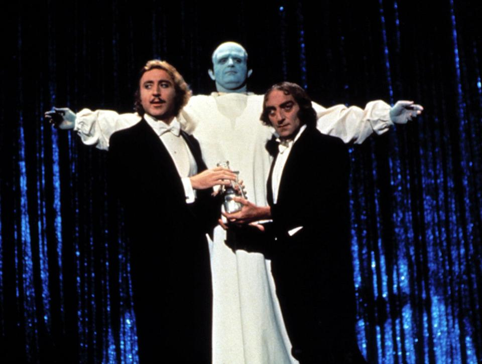 """<p><strong>Young Frankenstein</strong> puts a hilarious twist on a creepy classic. If you love Gene Wilder in <strong>Willy Wonka and the Chocolate Factory</strong>, then this one is right up your alley. </p> <p><a href=""""https://www.amazon.com/gp/video/detail/amzn1.dv.gti.a6b1138b-3cc0-9753-4eef-a030046856e5"""" class=""""link rapid-noclick-resp"""" rel=""""nofollow noopener"""" target=""""_blank"""" data-ylk=""""slk:Watch Young Frankenstein on Amazon Prime Video here!"""">Watch <strong>Young Frankenstein</strong> on Amazon Prime Video here!</a></p>"""
