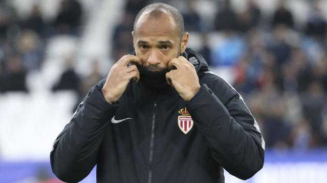 """<span>It was a miserable three months in </span> <a class=""""link rapid-noclick-resp"""" href=""""https://sports.yahoo.com/soccer/teams/monaco/"""" data-ylk=""""slk:Monaco""""><a class=""""link rapid-noclick-resp"""" href=""""/soccer/teams/monaco/"""" data-ylk=""""slk:Monaco"""">Monaco</a></a> <span> for French legend Thierry Henry. (Valery Hache/AFP/Getty)</span>"""