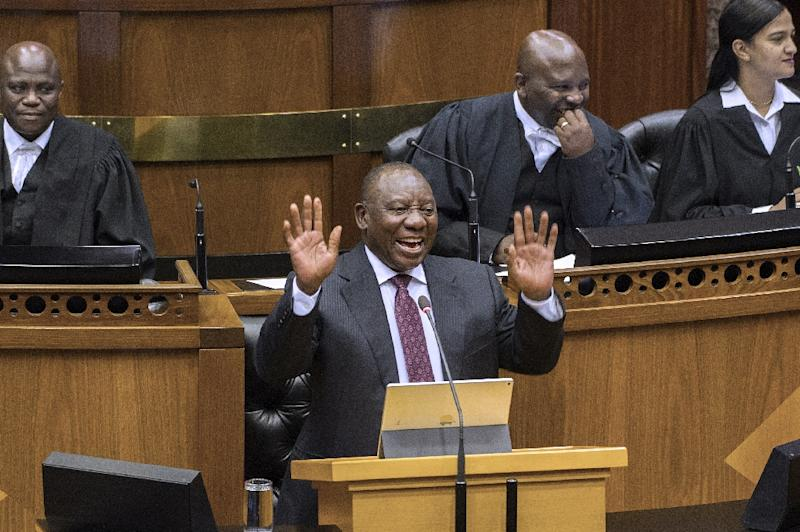 Ramaphosa in power since only last week is putting his name to a tough budget