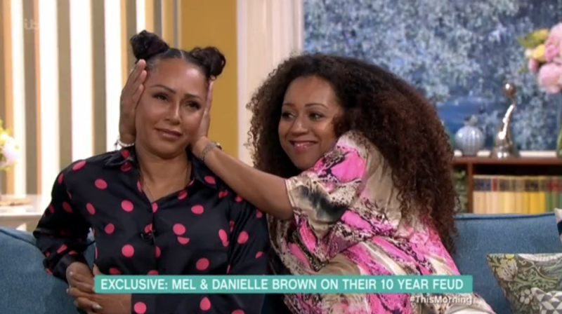 Mel B and sister Danielle Brown (ITV)