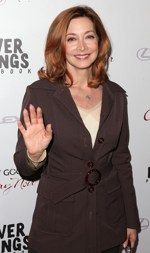 """BEVERLY HILLS, CA - NOVEMBER 19:  Actress Sharon Lawrence attends the Screening Of The Weinstein Company's """"Silver Linings Playbook"""" at The Academy of Motion Pictures Arts and Sciences on November 19, 2012 in Beverly Hills, California.  (Photo by Frederick M. Brown/Getty Images)"""
