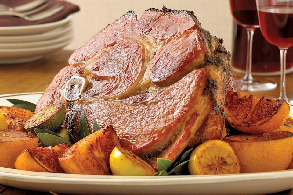 """<p>Get a dose of Southern holiday cheer with this Christmas dinner menu of traditional southern staples.</p><p><strong>Main Course:</strong><br><a href=""""https://www.countryliving.com/food-drinks/recipes/a1841/maple-orange-glazed-ham-3961/"""" rel=""""nofollow noopener"""" target=""""_blank"""" data-ylk=""""slk:Maple-Orange Glazed Ham"""" class=""""link rapid-noclick-resp"""">Maple-Orange Glazed Ham</a></p><p><strong>Side Dishes:</strong><br><a href=""""https://www.countryliving.com/food-drinks/recipes/a1112/potato-clover-dinner-rolls-3218/"""" rel=""""nofollow noopener"""" target=""""_blank"""" data-ylk=""""slk:Potato Clover Rolls"""" class=""""link rapid-noclick-resp"""">Potato Clover Rolls</a></p><p><a href=""""https://www.countryliving.com/food-drinks/recipes/a844/fresh-green-bean-casserole-24/"""" rel=""""nofollow noopener"""" target=""""_blank"""" data-ylk=""""slk:Fresh Green Bean Casserole"""" class=""""link rapid-noclick-resp"""">Fresh Green Bean Casserole</a></p><p><a href=""""https://www.countryliving.com/food-drinks/recipes/a3073/pimento-cheese-potato-gratin-recipe/"""" rel=""""nofollow noopener"""" target=""""_blank"""" data-ylk=""""slk:Pimento-Cheese Gratin"""" class=""""link rapid-noclick-resp"""">Pimento-Cheese Gratin</a></p><p><strong>Dessert:</strong><br><a href=""""https://www.countryliving.com/food-drinks/recipes/a1203/chocolate-bourbon-pecan-pie-3310/"""" rel=""""nofollow noopener"""" target=""""_blank"""" data-ylk=""""slk:Chocolate Bourbon Pecan Pie"""" class=""""link rapid-noclick-resp"""">Chocolate Bourbon Pecan Pie</a></p><p><strong>Drink:</strong><br><a href=""""https://www.countryliving.com/food-drinks/recipes/a3061/low-country-pousse-rapiere-recipe/"""" rel=""""nofollow noopener"""" target=""""_blank"""" data-ylk=""""slk:Low Country Pousse-Rapiere"""" class=""""link rapid-noclick-resp"""">Low Country Pousse-Rapiere</a> </p>"""