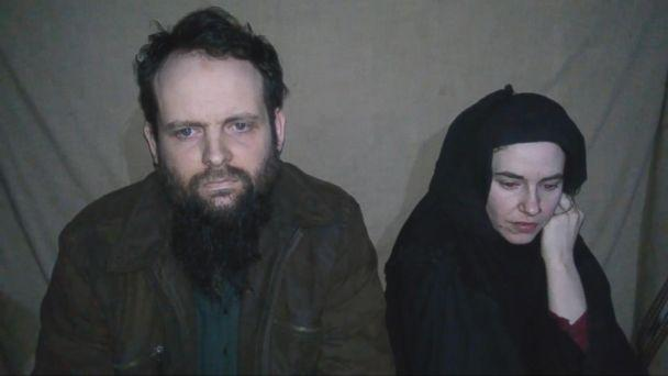 Caitlan Coleman of Stewartstown, Penn., and her Canadian husband Joshua Boyle seen in a video filmed by their captors and released in 2016. (Obtained by ABC News)