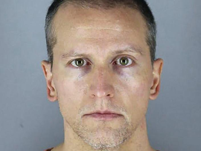 Derek Chauvin, a former Minneapolis police officer will be sentenced on 25 June 2021 for the murder of George Floyd (Hennepin County Jail/AFP via Get)