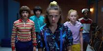 """<p>This insanely popular sci-fi series follows an adolescent crew living in 1980s Indiana as they discover supernatural forces, secret government threats, and a young girl with telekinetic powers. It's a crazy trip, but - just like with <strong>Black Mirror </strong> - if you suffer from paranoia, you might just find yourself searching for the Demogorgon around every corner. </p> <p><a href=""""http://www.netflix.com/title/80057281"""" class=""""link rapid-noclick-resp"""" rel=""""nofollow noopener"""" target=""""_blank"""" data-ylk=""""slk:Watch Stranger Things on Netflix now."""">Watch <strong>Stranger Things</strong> on Netflix now.</a></p>"""