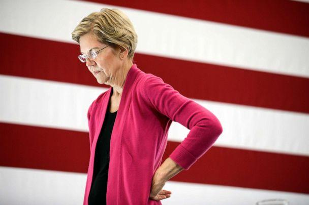 PHOTO: Democratic presidential candidate Sen. Elizabeth Warren, D-Mass., listens to a question during the question and answer part of her campaign event at the University of New Hampshire in Durham, N.H., Oct. 30, 2019, (Cheryl Senter/AP, FILE)