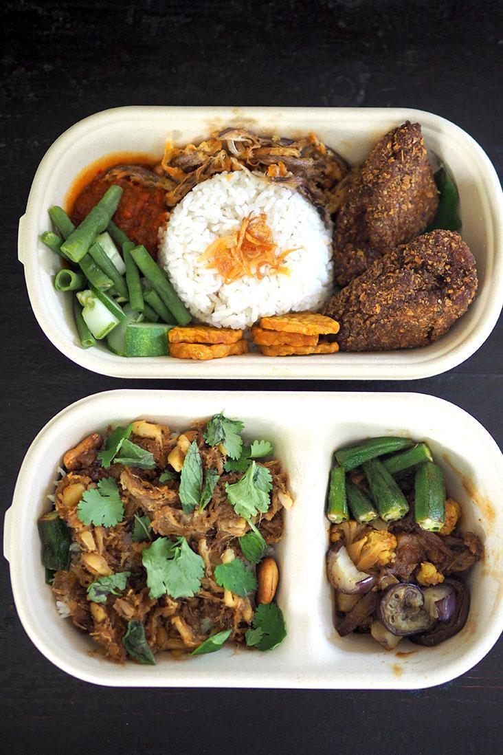 You can easily enjoy the food straight from its containers