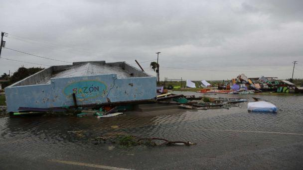 PHOTO: Rockport, Texas has been hard hit by Hurricane Harvey's wrath of torrential rain and high wind, Aug. 26. 2017. (Janet Weinstein / ABC News)