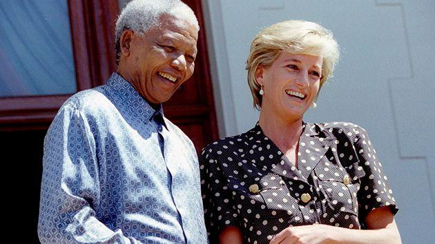 Diana, Britain's Princess of Wales, meets South African President Nelson Mandela in Cape Town. Photo: Reuters.