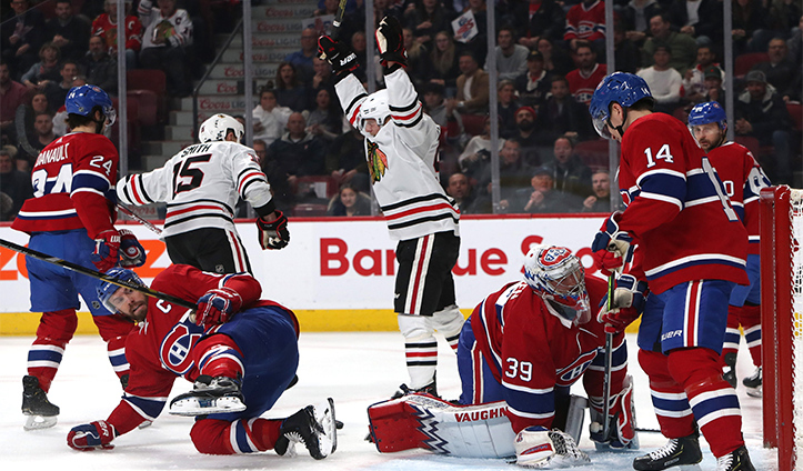 5 Takeaways: Zack Smith scores two first-period goals, Corey Crawford stays sharp in Montreal