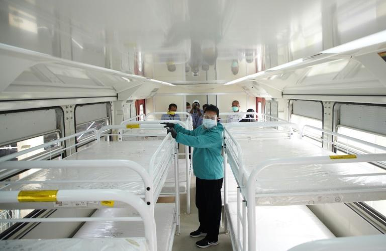 There are reports of Indonesian patients being unable to access intensive care units -- a shortage underscored by an East Java city's move to outfit a train carriage for the sick