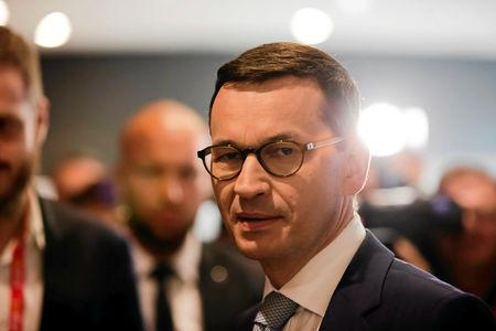 Poland's Prime Minister Mateusz Morawiecki attends the Impact'18 congress in Krakow, June 13, 2018. Agencja Gazeta/Jakub Wlodek via REUTERS/Files