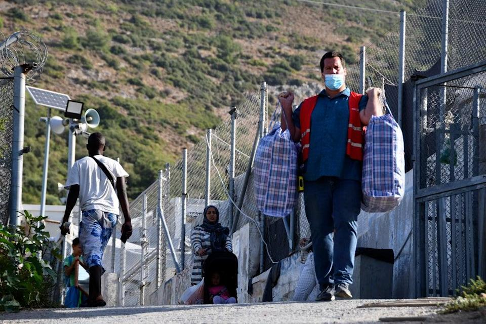Migration Greece New Camp (Copyright 2021 The Associated Press. All rights reserved)
