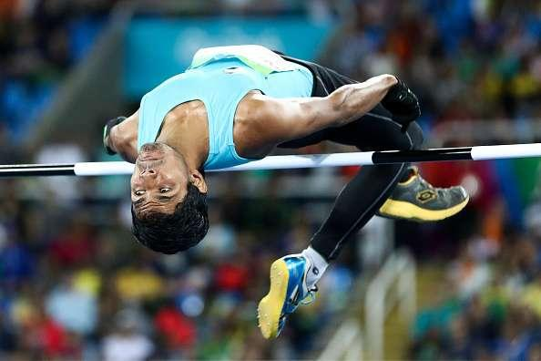 RIO DE JANEIRO, BRAZIL - SEPTEMBER 09: Bhati Varun Singh competes in the Men's High Jump T42 final on day 2 of the Rio 2016 Paralympic Games at Olympic Stadium on September 9, 2016 in Rio de Janeiro, Brazil. (Photo by Hagen Hopkins/Getty Images for the New Zealand Paralympic Committee)