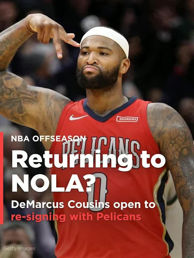 "New Orleans Pelicans big man DeMarcus Cousins says he's ""very open"" to resigning with the Pelicans this summer, but he will make ""the absolute best decision for DeMarcus Cousins."""