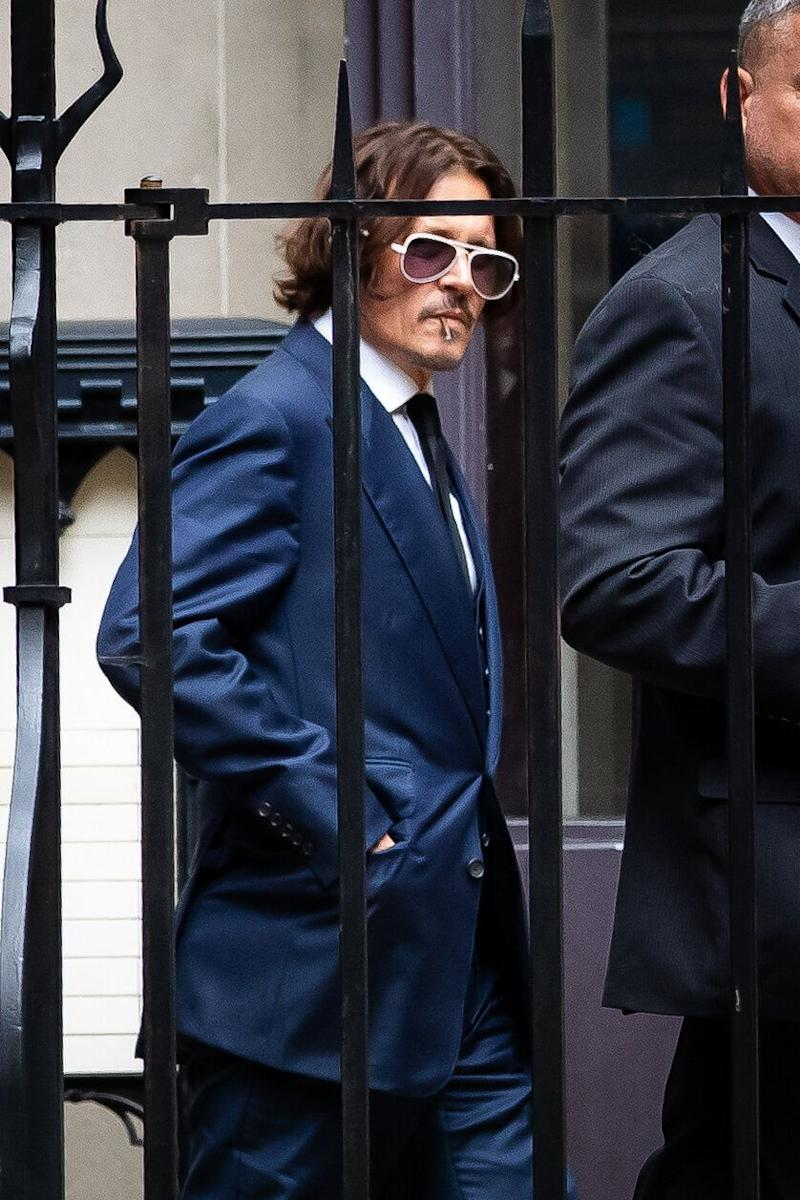 Johnny Depp during a break in his hearing at the High Court in London (Photo: PA)
