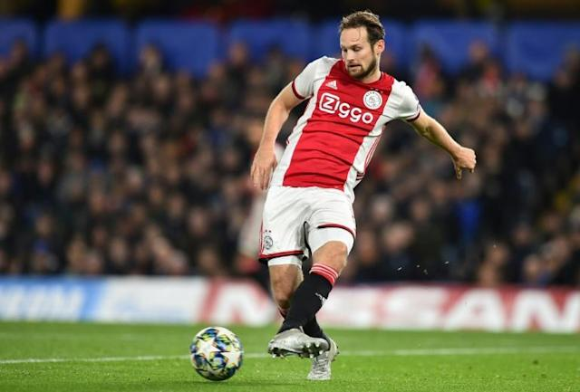 Ajax's Dutch defender Daley Blind has a heart condition (AFP Photo/Glyn KIRK )