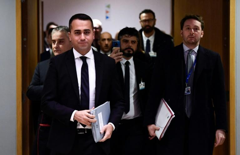 Di Maio (L) is credited by supporters with turning M5S into a mainstream political force capable of allying with right and left