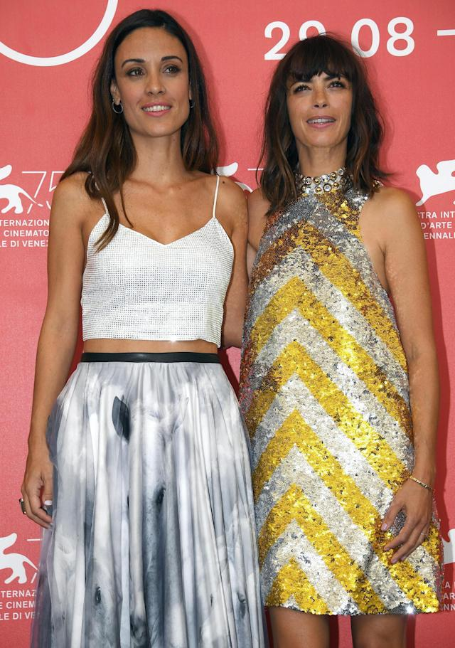 <p>Venice (Italy), 02/09/2018.- French actress Berenice Bejo and Argentinian actress Martina Gusman (L) pose during a photocall for 'La Quietud ' during the 75th annual Venice International Film Festival, in Venice, Italy, 02 September 2018. The movie is presented in out Competition at the festival running from 29 August to 08 September 2018. (Cine, Italia, Niza, Venecia) EFE/EPA/CLAUDIO ONORATI </p>